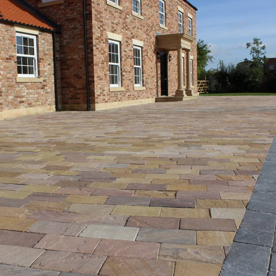 smooth and seemless paving area