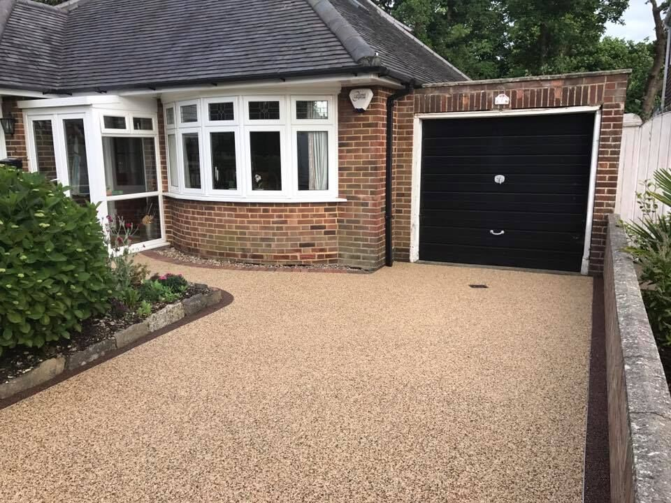 resin bounded driveway installed in dorking area